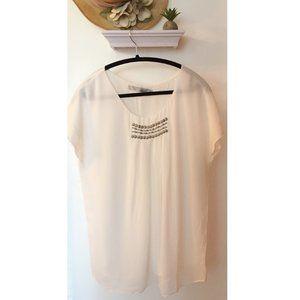 Short Sleeve White Blouse by Miilla